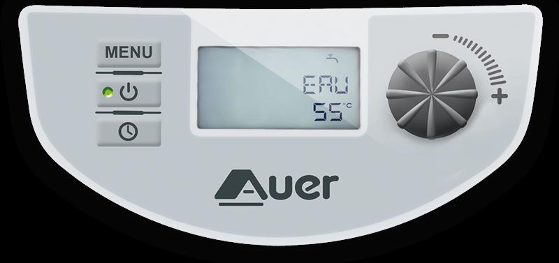 Regulátor tepelného čerpadla EDEL sintuitivním otočným ovladačem